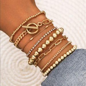 Gold Stacking Bracelet Set